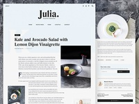 Julia Food Blog Theme