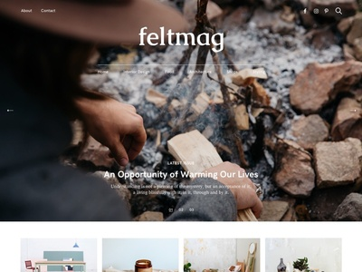 Felt Magazine typograhy fonts slider cover slideshow hero theme pixelgrade blog magazine