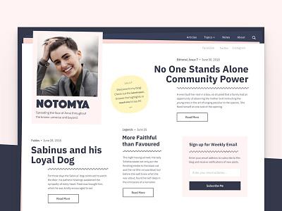 NOTO Blogging wordpress theme grid blog