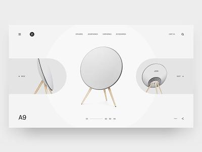 B&O Play Gallery web design white minimal ux ui slideshow gallery