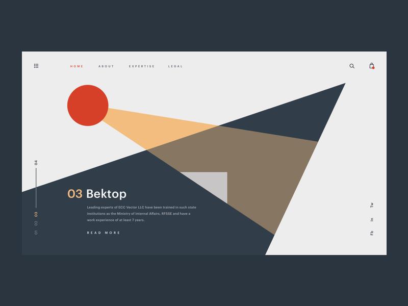 Bektop Insurance web hero branding brand web design minimal ux ui