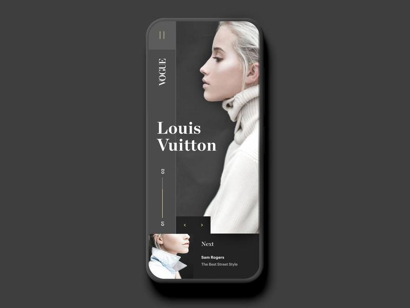 Vogue (Mobile) fashion web app hero branding brand web design minimal ux ui