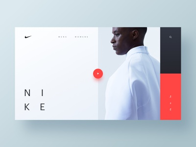Nike Future nike homepage web hero branding brand web design minimal ux ui