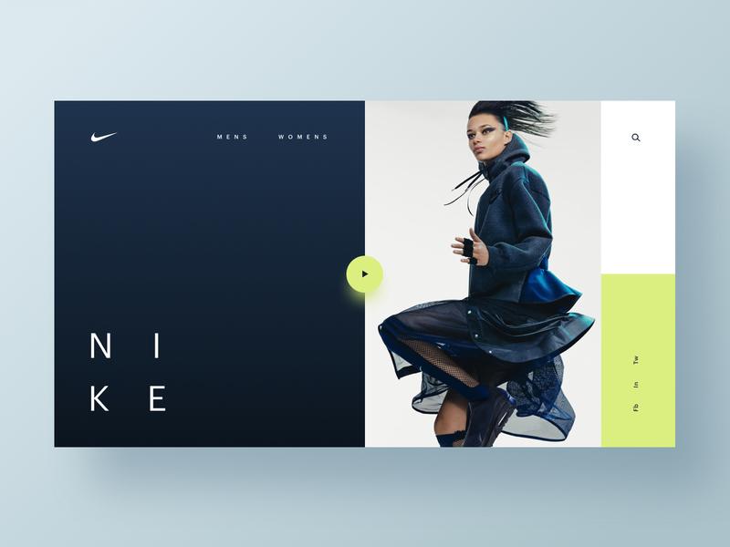 Nike Future 2 nike fashion homepage app web hero branding web design brand minimal ux ui