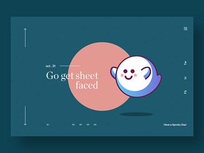 Let's Get Sheet Faced! illustration typography app web hero branding web design brand minimal ux ui