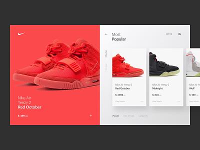 Nike Air Yeezy product nike eccomerce homepage app web hero branding web design brand minimal ux ui
