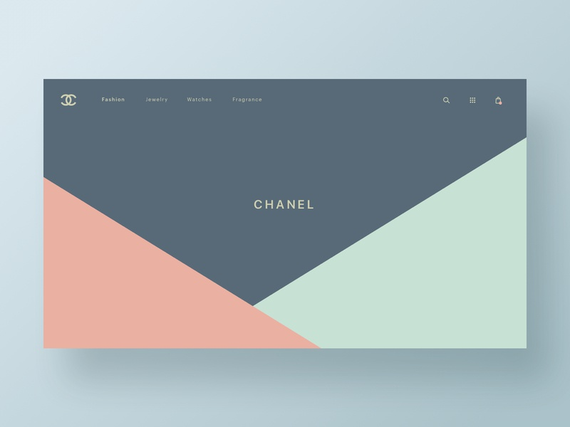 CHANEL fashion homepage app web hero branding web design brand minimal ux ui