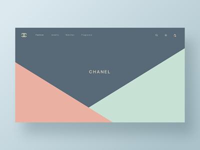 CHANEL fashion homepage app web hero branding web design brand minimal ux ui