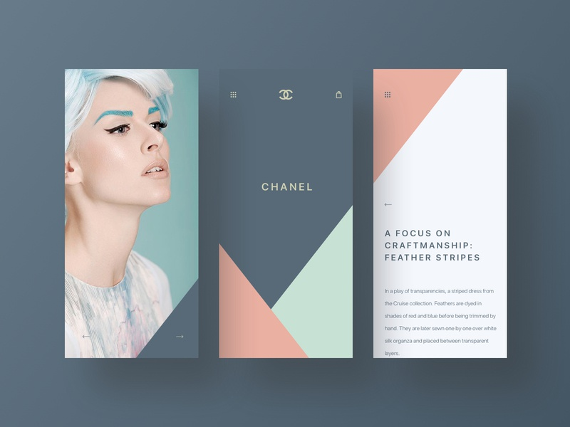 🌹Chanel mobile fashion web app branding brand minimal ux ui