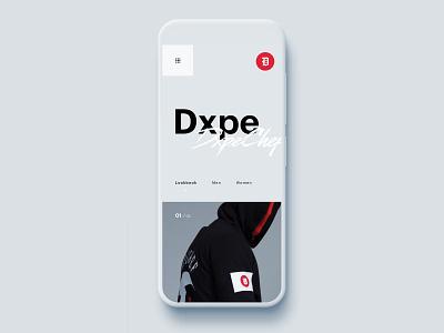 🖤Dxpe mobile branding hero homepage app web web design brand minimal ux ui