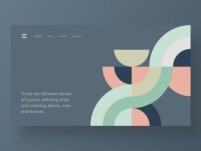 🖤Chanel fashion homepage hero branding web design brand minimal ux ui