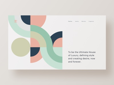 💍Chanel fashion homepage web hero branding web design brand minimal ux ui