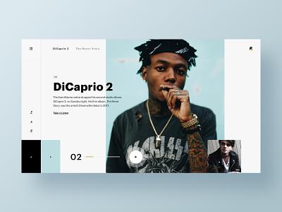 JID - DiCaprio 2 homepage web hero branding web design brand minimal ux ui