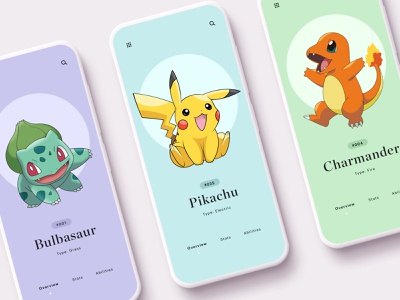 🌱⚡️🔥 Pokemon branding web app web design brand minimal ux ui