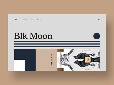 🌑Blk Moon branding homepage hero web web design brand minimal ux ui