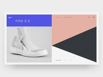 Nike FOG 2.0 nike homepage app hero web web design brand minimal ux ui