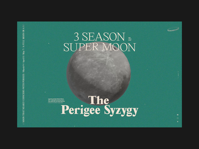 2020 Supermoon Landing Page typeography transition after effects type landing page website motion ui animation web
