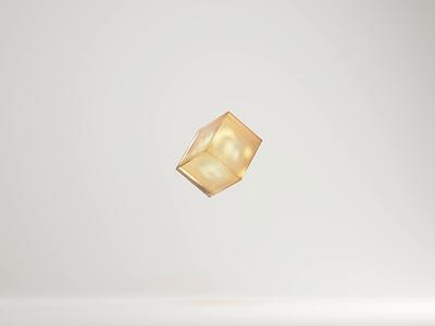Glass and Gravity orange drop cube glass cinema4d c4d design motion animation 3d art 3d