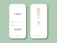 Daily UI :: 01 :: Login Screen for Sushi Me