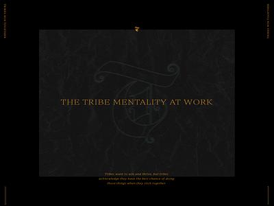 The Tribe Mentality at Work lifestyle orange layout design thinking