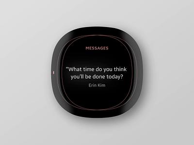 Wearable Exploration: II line simple motion animation apple watch wearable