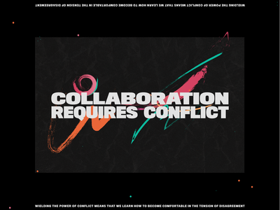 Collaboration Requires Conflict textures brushes conflict design thinking
