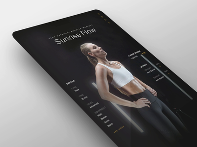 Workout Mirror Interface