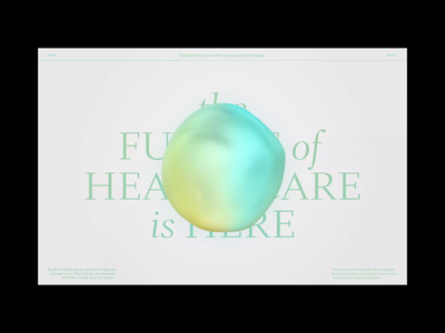 Healthcare Design Concept 3d after effects motion graphics ui website design after effects orb organic website healthcare health