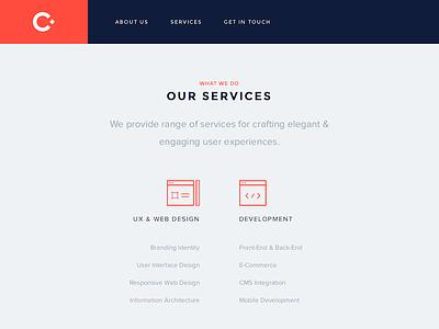 New Craftified portfolio flat clean orange studio minimal logo responsive redesign ui