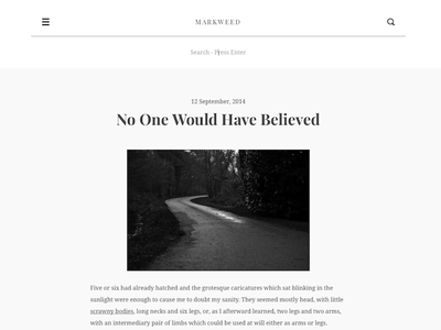 Markweed Tumblr Theme responsive website theme themes tumblr minimalistic minimal clean writer typography blog