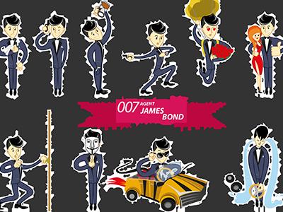 James Bond Stickers By Lenajumper On Dribbble