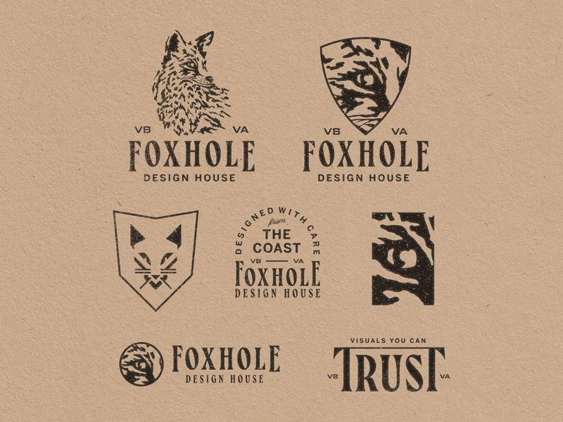 Foxhole Logo Redesign lettering typography illustrator logo branding badge illustration design vector