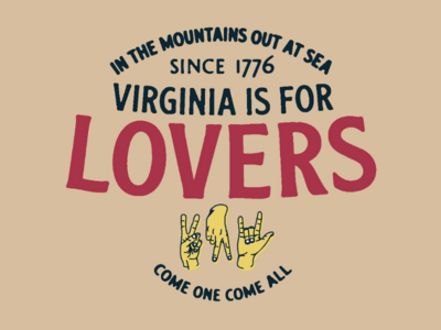 VA is for Lovers Badge