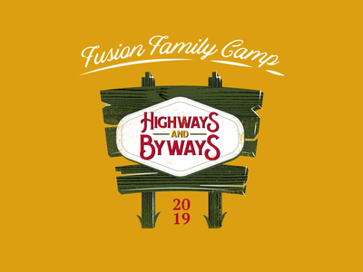 Highways and Byways Exploration 2 lettering type illustrator typography branding logo badge illustration vector design