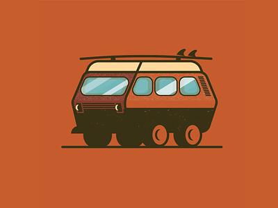 VW Van Illustration for Highways and Byways Event icon flat illustrator illustration vector design