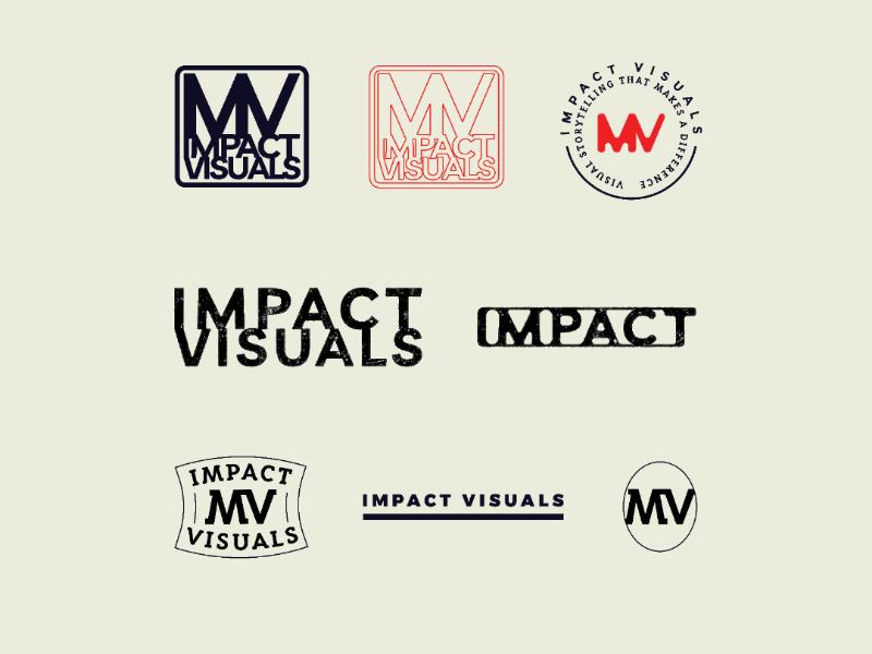 Impact Visuals Unused badge photographer branding logo vector flat