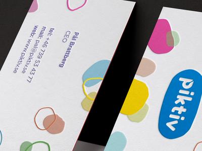 Piktiv Branding card pattern mark logo colorfull businesscard brand logotype