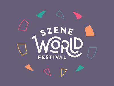 Szene World Logo Design world szene music multi-cultural logo festival diversity design cultural animation