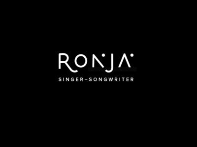 Ronja* Singer-Songwriter Logo type typography songwriter singer ronja graphic design logo