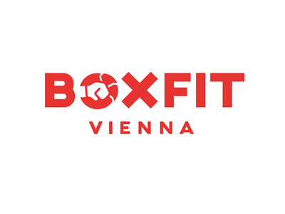 BoxFit Vienna type typography boxing vienna boxfit graphic design logo