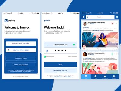 Emorox App Screens