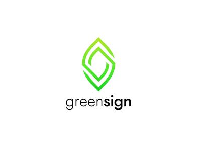 Minimal eco leaf logo. Ecologic logotype. (For sale)