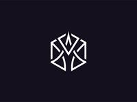 Unused linear hexagon logo. (For Sale)