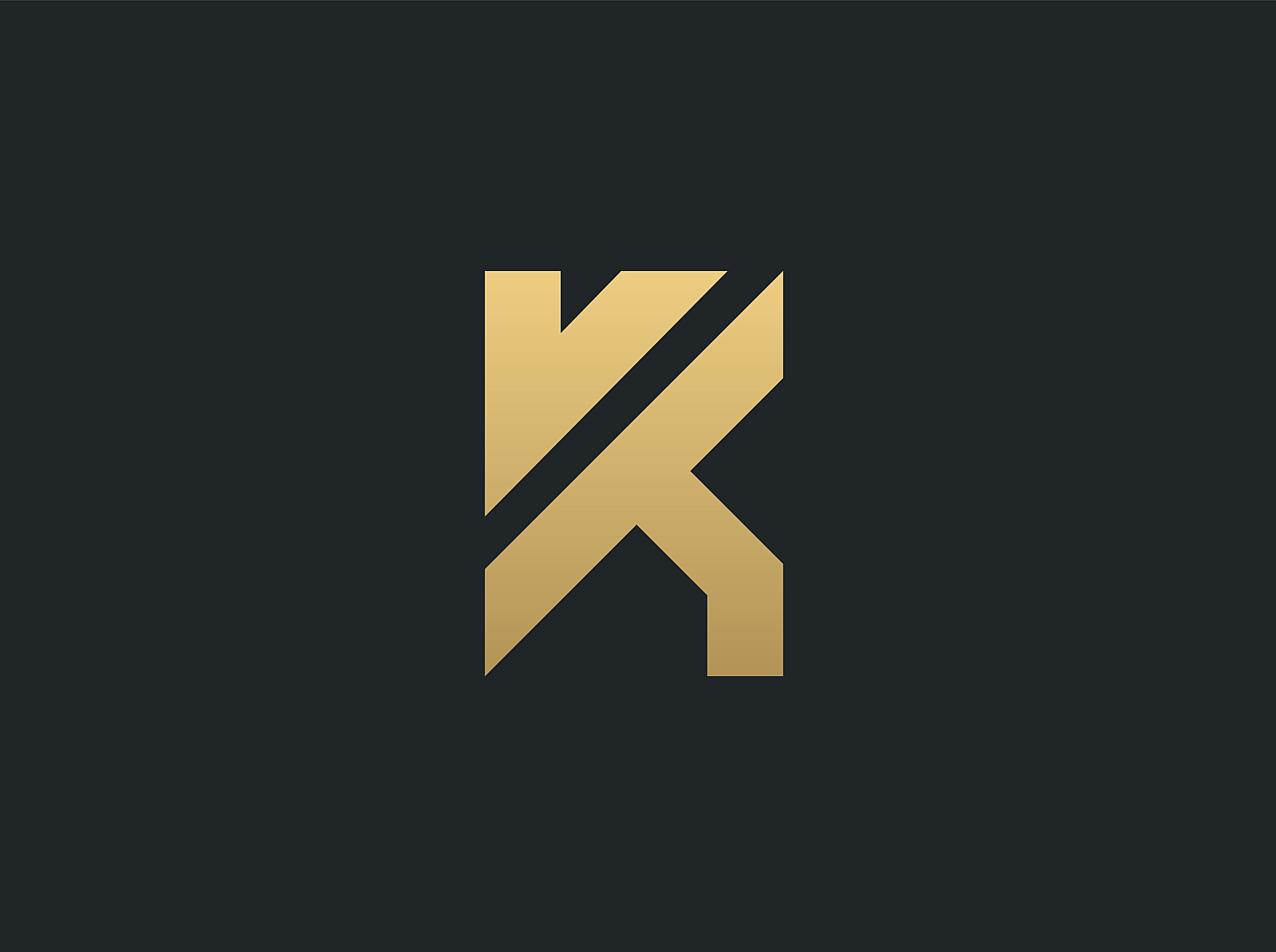 K logo minimalistic design (for sale) by Timon Art on Dribbble