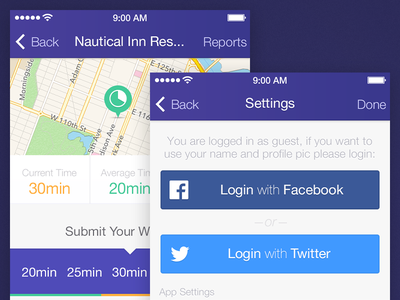 Settings & Report app ui iphone app ui design ui design