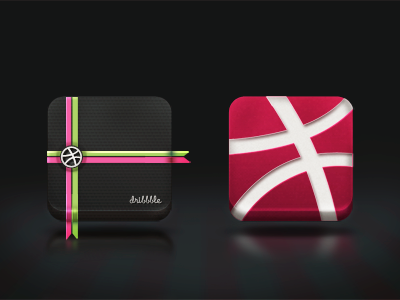 Just Hello... icons dribbble icons design icon app ui experiment hello red application iphone clean black first shot white green background dribbble minimal purple