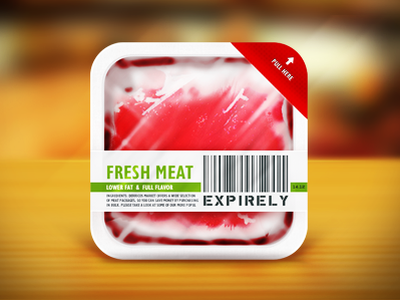 App Icon - Expirely icon food app icon expirely icon iphone app icon application expirely minimal red expired realistic green clean app prespective iphone icons wood pull here