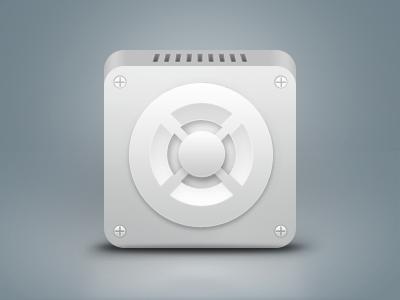 Car Tweeter (?) icon rebound tweeter experiment car sound iphone screw clean application minimal app