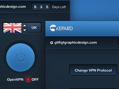Mac/Win VPN Service App (wip) app ui mac mac app apple app windows app application ui design blue slick design