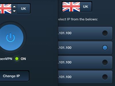 Kepard - Mac/Win VPN Service App ui design application windows app apple app mac app mac ui app blue slick design